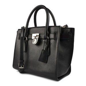 Michael Kors hamilton large satchel black
